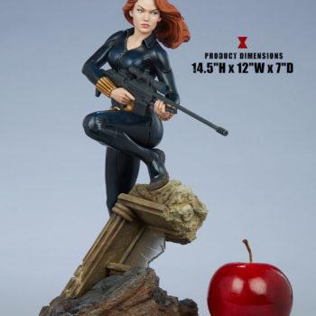 """Black Widow Avengers Assemble Statue Measurements- 14.5"""" H x 12"""" W x 7"""" D"""