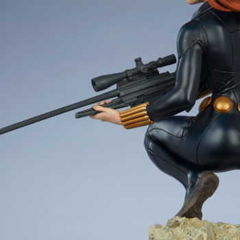 Black Widow Avengers Assemble Statue Sniper Rifle Close Up Behind