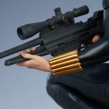 Black Widow Avengers Assemble Statue Sniper Rifle Close Up 3