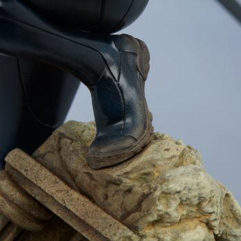 Black Widow Avengers Assemble Statue Foot on Base Close Up