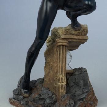 Black Widow Avengers Assemble Statue Building Rubble Base Close Up 2