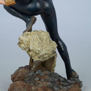 Black Widow Avengers Assemble Statue Building Rubble Base Close Up 3