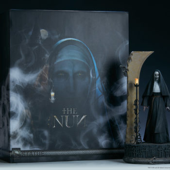 the Nun box and statue