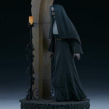 The Nun emerging from an ouroboros portal 3/4 left view