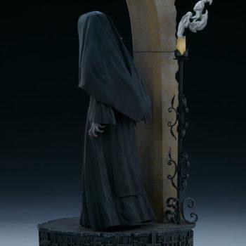 The Nun emerging from an ouroboros portal left back view