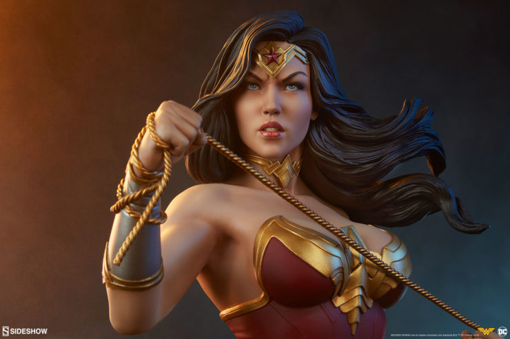 Wonder Woman Bust with Dramatic Lighting 3