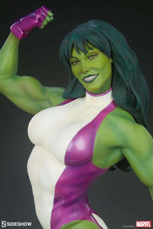 She-Hulk Statue from the Adi Granov Artist Series Portrait Close Up