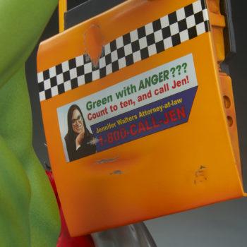 She-Hulk Statue from the Adi Granov Artist Series Taxi Door Advertisement