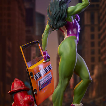 She-Hulk Statue from the Adi Granov Artist Series Back View of the Statue