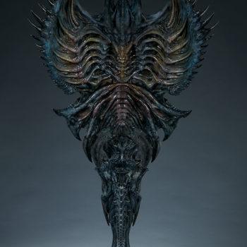 Alien Queen Mythos Legendary Scale™ Bust Open Lit Turnaround 3- Back of Bust
