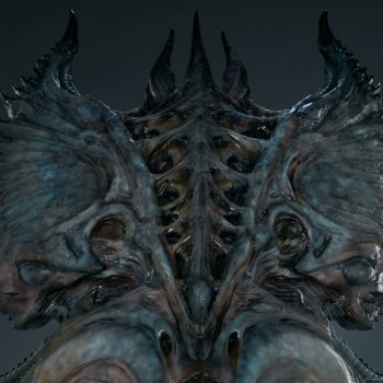 Alien Queen Mythos Legendary Scale™ Bust Close Up of Crown- Front View