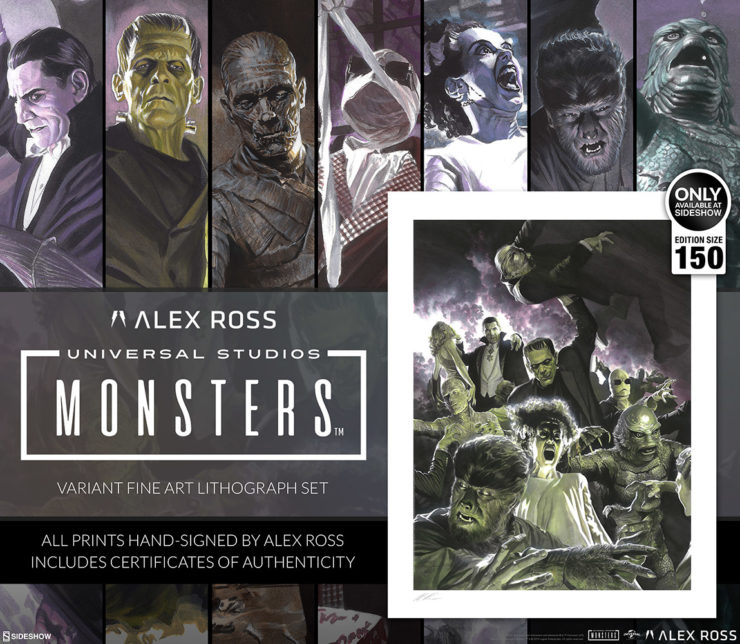 Alex Ross Takes on Titans of Terror with the Universal Monsters Variant Fine Art Lithograph Set