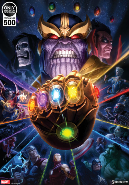 The Mad Titan Reigns Supreme in the Thanos & Infinity Gauntlet Fine Art Print by Fabian Schlaga After George Pérez