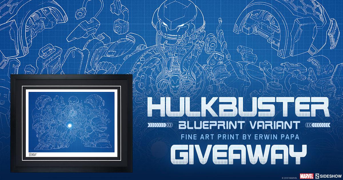 Hulkbuster Blueprint Variant Print Giveaway