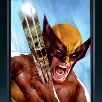 The Incredible Hulk vs. Wolverine HD Aluminum Metal Print by Ben Oliver with Frame