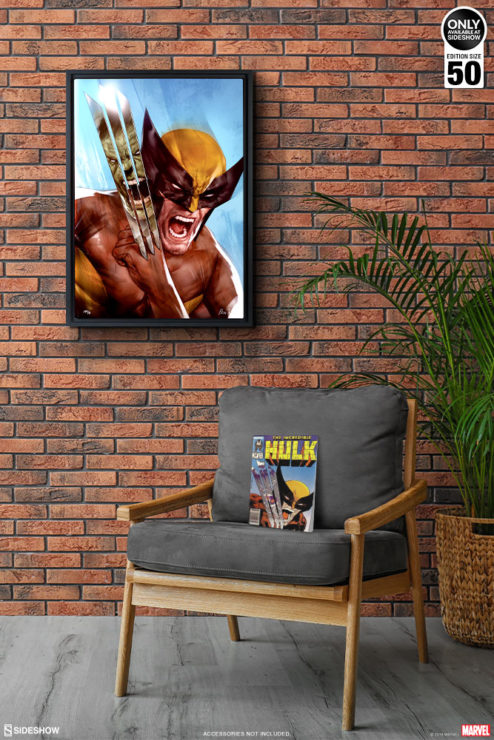 The Incredible Hulk vs. Wolverine HD Aluminum Metal Print by Ben Oliver on Environment Wall