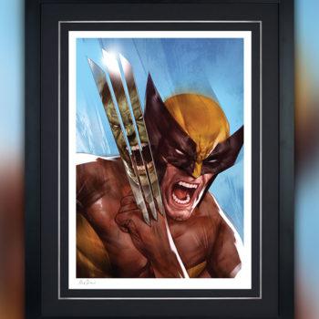 The Incredible Hulk vs. Wolverine Fine Art Print by Ben Oliver Black Framed Edition
