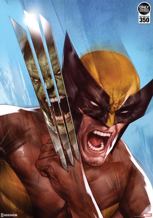 The Incredible Hulk vs. Wolverine Fine Art Print by Ben Oliver