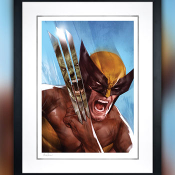 The Incredible Hulk vs. Wolverine Fine Art Print by Ben Oliver White Matte Edition