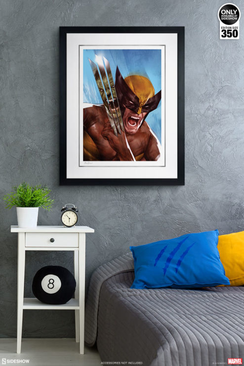 The Incredible Hulk vs. Wolverine Fine Art Print by Ben Oliver White Matte Edition on Environment Wall