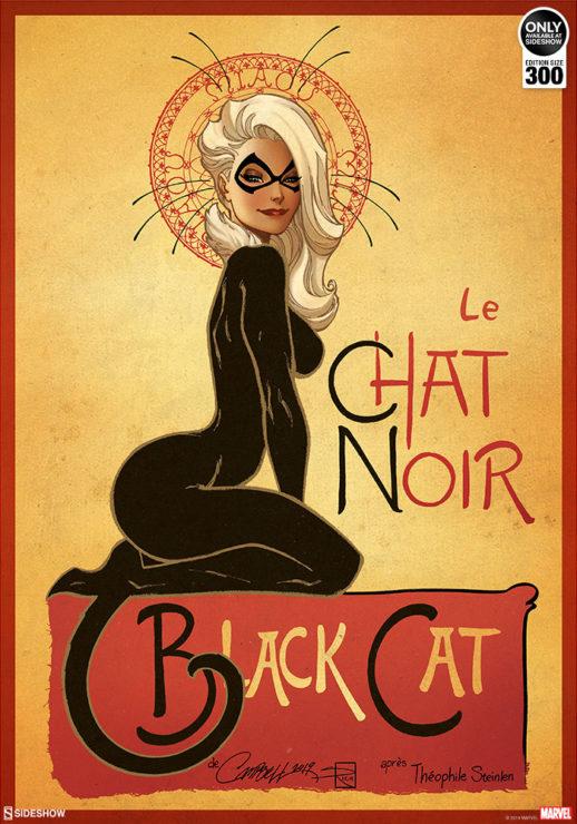 Le Chat Noir: The Black Cat Fine Art Print by J. Scott Campbell