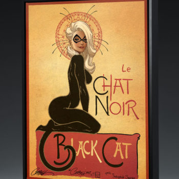 Le Chat Noir: The Black Cat Gallery Wrapped Canvas by J. Scott Campbell Black Frame View