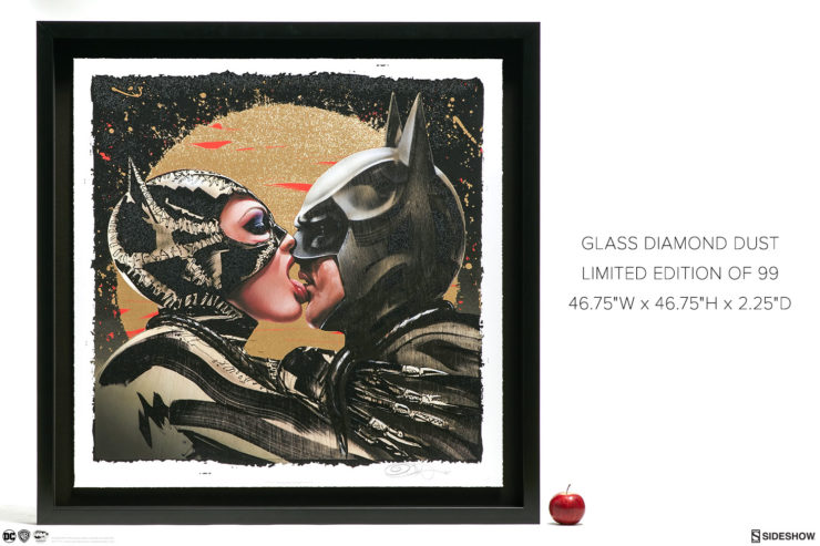 Tongue Lashing XL Deluxe Diamond Dust Fine Art Print Black Framed Edition with Measurements