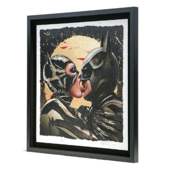 Tongue Lashing XL Deluxe Diamond Dust Fine Art Print Tilted Frame View