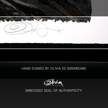 Tongue Lashing XL Deluxe Diamond Dust Fine Art Print Hand-Signed and Embossed Seal of Authenticity