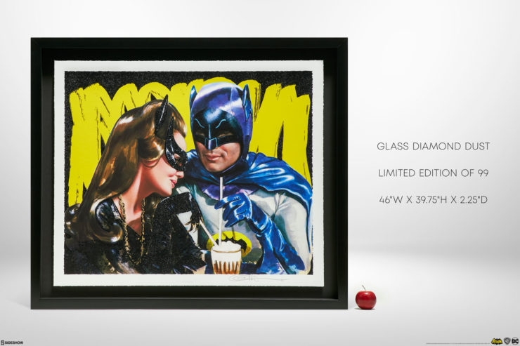 Meanwhile, at the Sweet Shoppe… XL Deluxe Diamond Dust Fine Art Print Black Framed Edition with Measurements