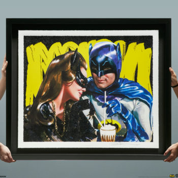 Meanwhile, at the Sweet Shoppe… XL Deluxe Diamond Dust Fine Art Print Held by Two Pairs of Hands for Scaling