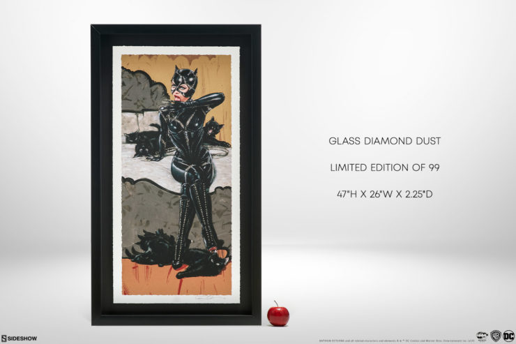 Clawsplay XL Deluxe Diamond Dust Fine Art Print Black Framed Edition with Measurements