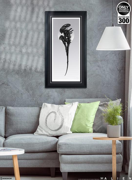 Alien: Perfect Specimen Fine Art Print by Nekro Black Framed Edition on Bedroom Wall Environment