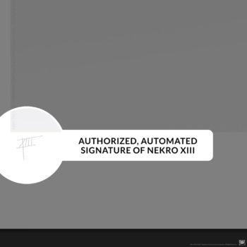 Alien: Perfect Specimen Fine Art Print by Nekro Authorized Autopen Signature on Unframed Edition