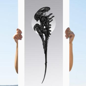 Alien: Perfect Specimen Fine Art Print by Nekro Unframed Edition in Open Lighting