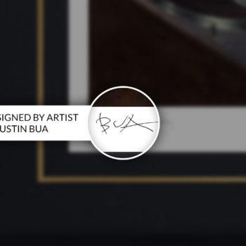 BUA's The DJ Fine Art Print Hand-Signed on Black Framed Edition