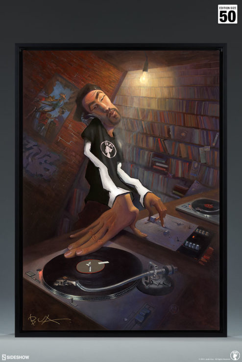 BUA's The DJ Gallery Wrapped Canvas with Black Frame