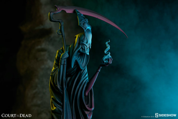 Death: The Curious Shepherd Statue