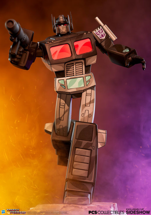 Nemesis Prime Classic Scale Statue by PCS Collectibles with Dramatic Lighting