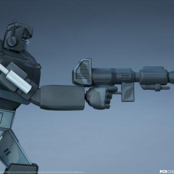 Nemesis Prime Classic Scale Statue by PCS Collectibles Blaster Rifle Detail Shot