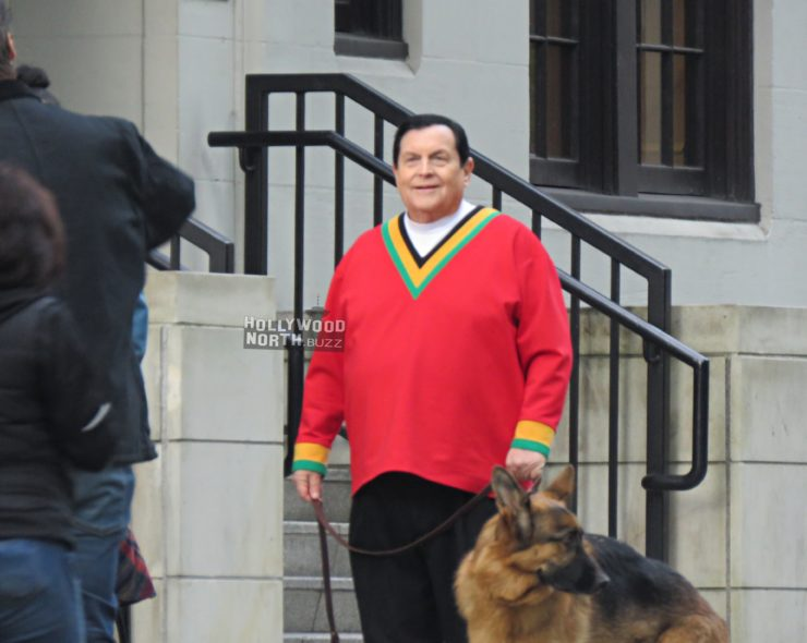 Burt Ward on set