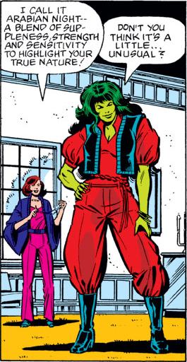 Janet van Dyne designs She-Hulk's outfit