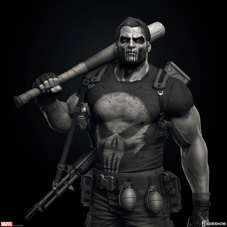 Artist Marco Plouffe and the Punisher Premium Format Figure win a ZBrush Award!