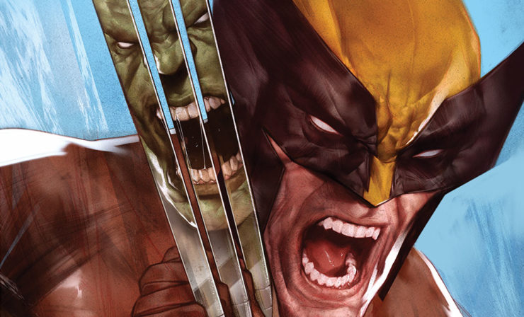 The Incredible Hulk vs. Wolverine Fine Art Print by Ben Oliver Pits Anger Against Adamantium