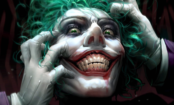 Experience the Madness of The Joker: Just One Bad Day Fine Art Print by Derrick Chew