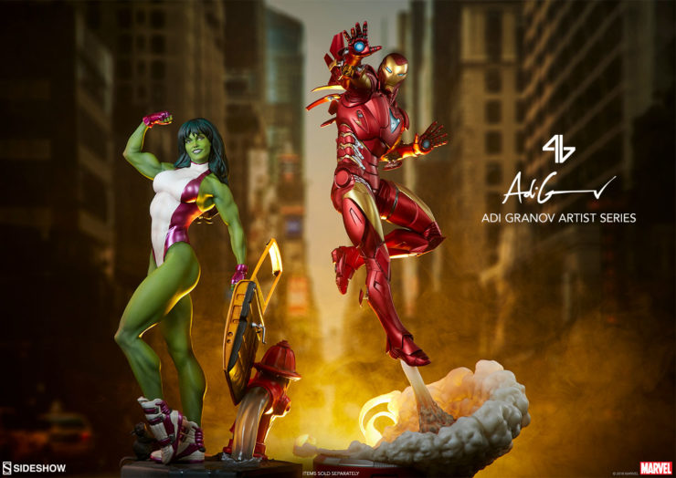 Interview: Artist Adi Granov Discusses the She-Hulk and Iron Man Extremis Mark 2 Statues