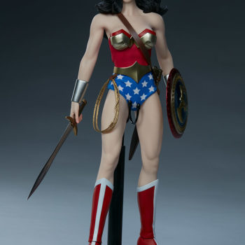 Wonder Woman Sixth Scale Figure Full View with Sword and Shield