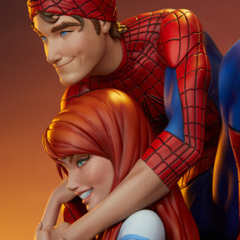 Spider-Man and Mary Jane Maquette Close up on Portraits, Profile View