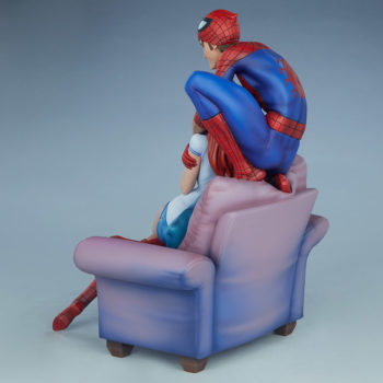 Spider-Man and Mary Jane Maquette Open Lit Turnaround 2