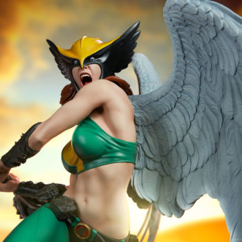 Hawkgirl Premium Format™ Figure with Dramatic Lighting 2